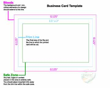 Dove Direct Free 3.5x2 Business Card Print Template