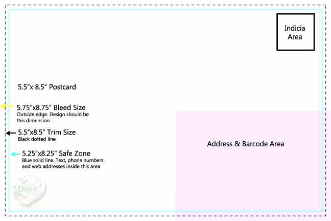 Dove Direct Free 5.5 x 8.5 Postcard Print Template